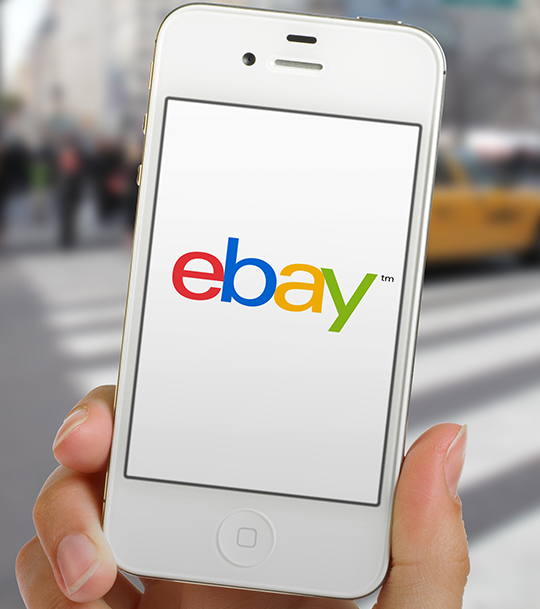 The New eBay Logo on the iPhone
