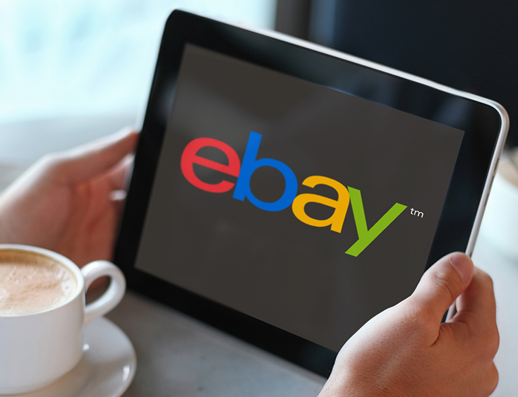 New eBay Logo Debut on a Tablet